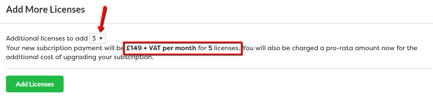 Add licenses