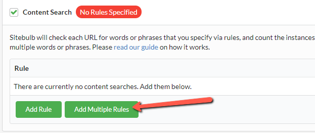 Add Multiple Rules