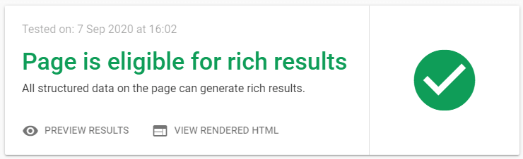 Eligible for rich results